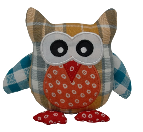 Home Decor Stuffed Fabric Owl Pillow