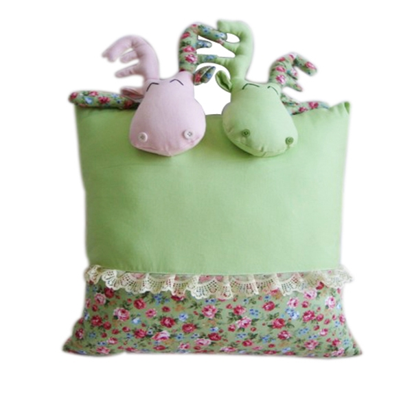 Stuffed Square Cushion Cov...