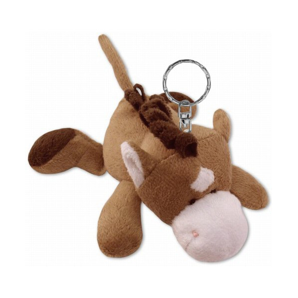 Horse Brown Plush Animal Key Chain