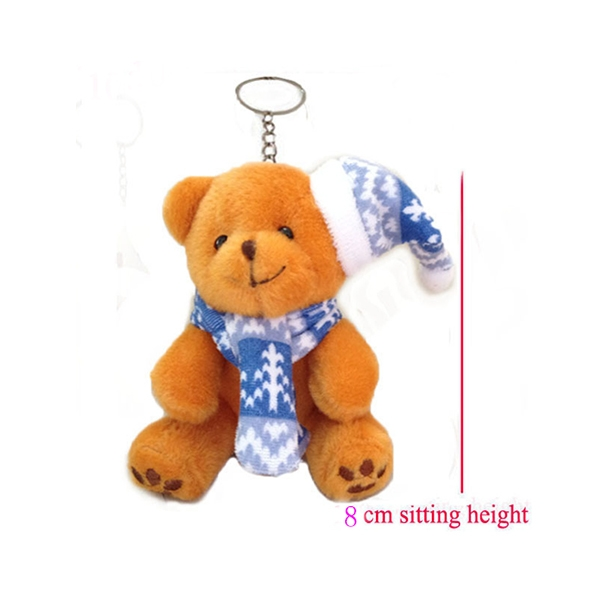 Teddy Bear Plush Keychain